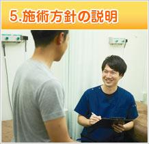 5.施術方針の説明